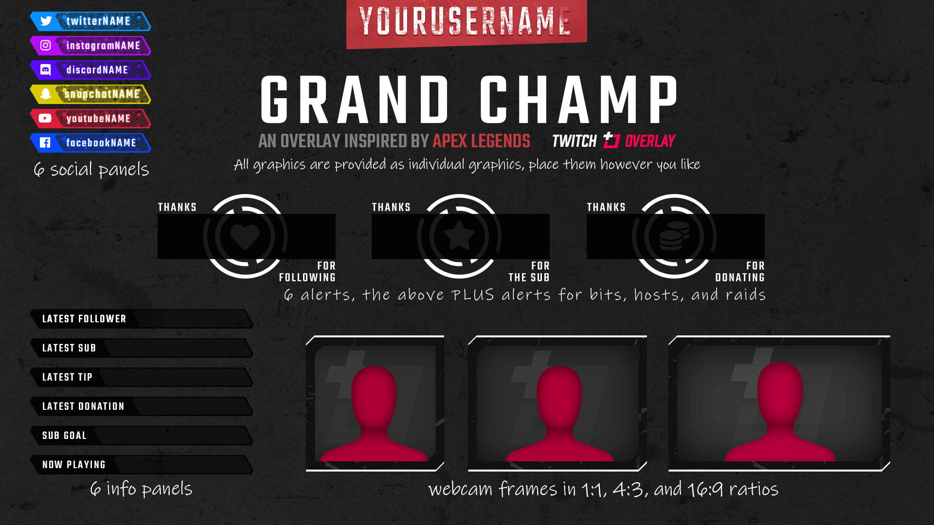 Grand Champ Deluxe - Apex Legends Twitch Overlay