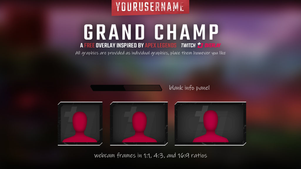 Grand Champ – Free Apex Legends Twitch Overlay