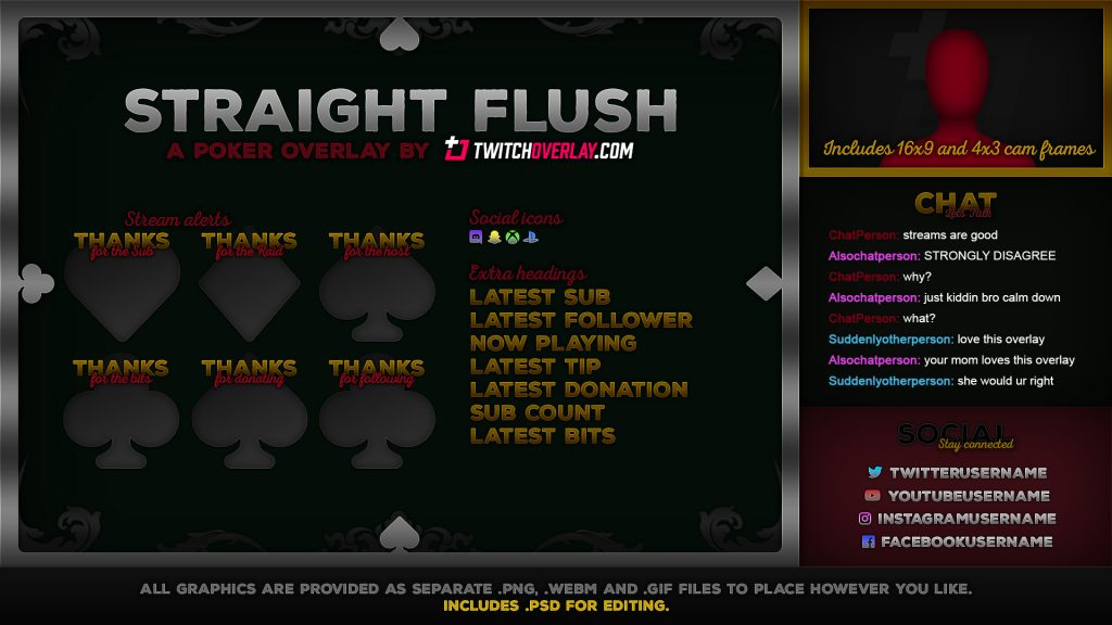 Straight Flush – Poker Twitch Overlay
