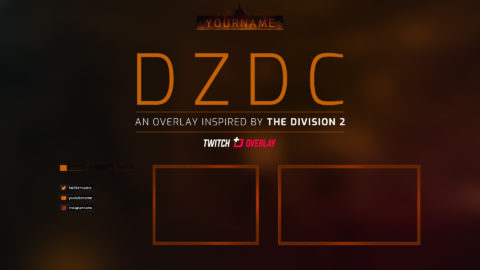 Free The Division 2 Twitch Overlay