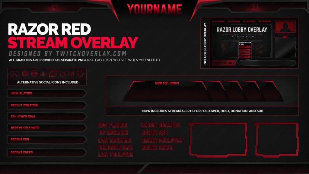 Razor Red – Red Overlay