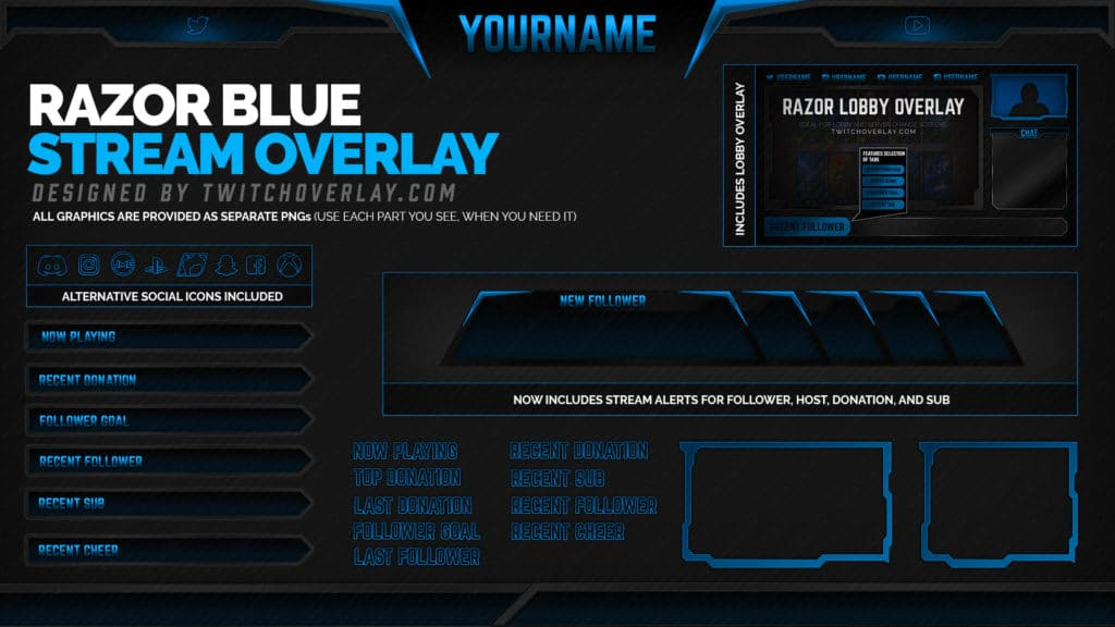 Razor Blue – Blue Overlay