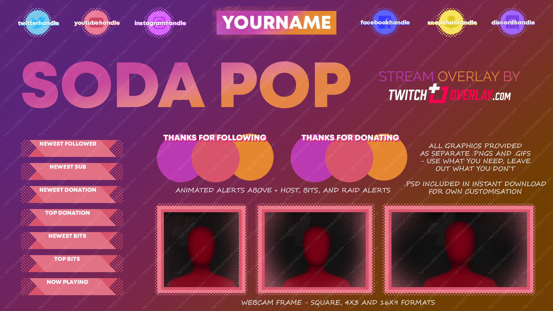 Soda Pop - Colourful Twitch Overlay