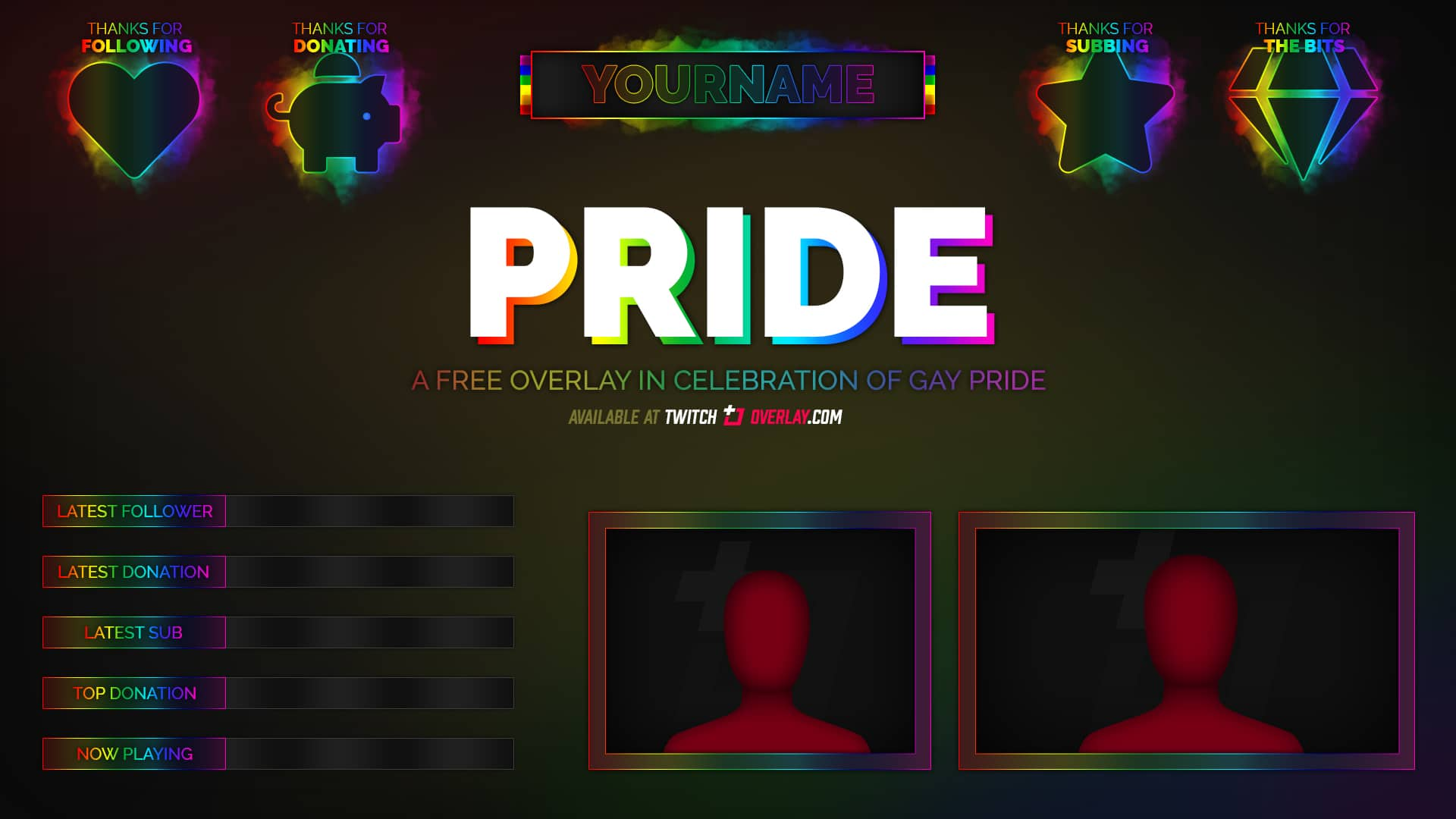 Pride - Free Gay Pride Twitch Overlay
