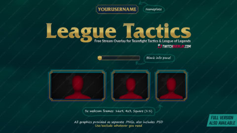 free teamfight tactics twitch overlay