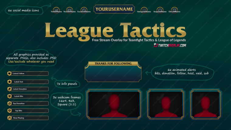 teamfight tactics twitch overlay