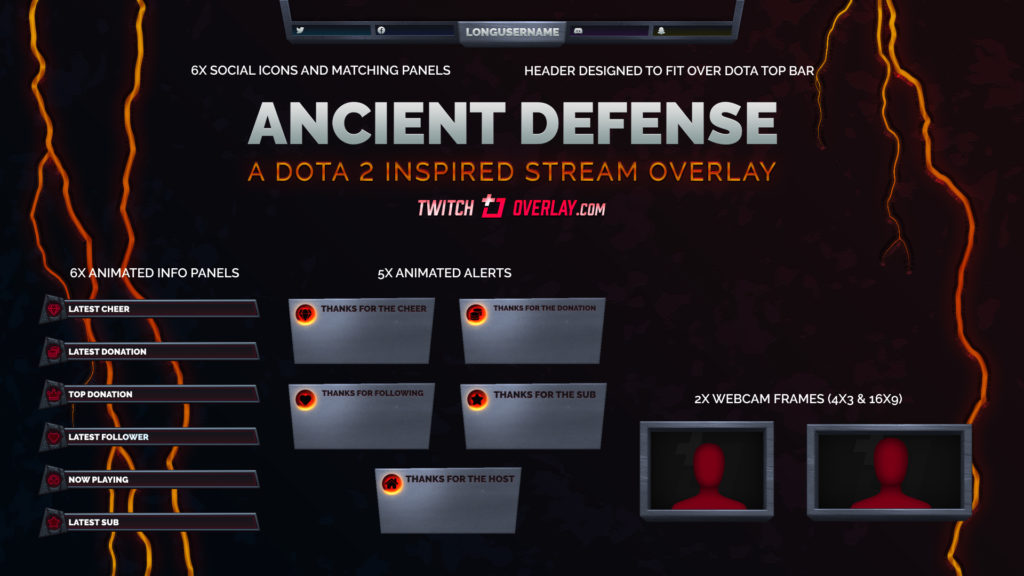 Ancient Defense – Dota 2 Twitch Overlay