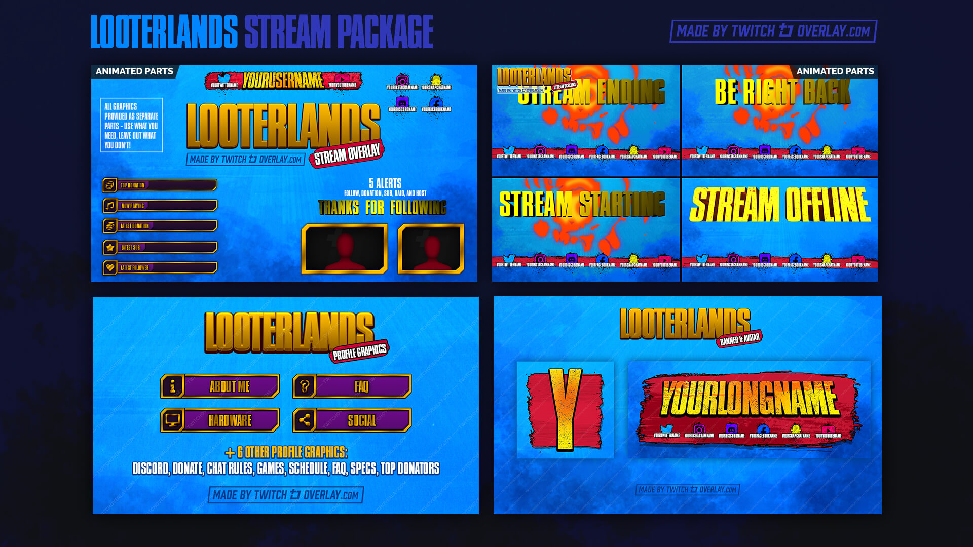 borderlands 3 stream package - Twitch Overlay