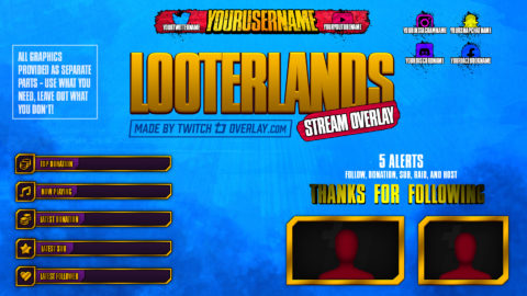 Looterlands – Borderlands 3 Twitch Overlay