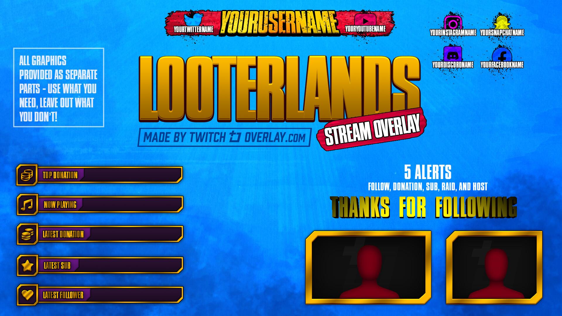 Borderlands 3 twitch overlay - Twitch Overlay