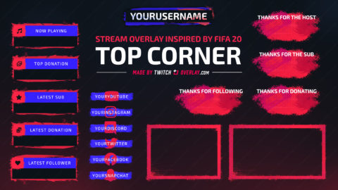 Top Corner – FIFA 20 Twitch Overlay