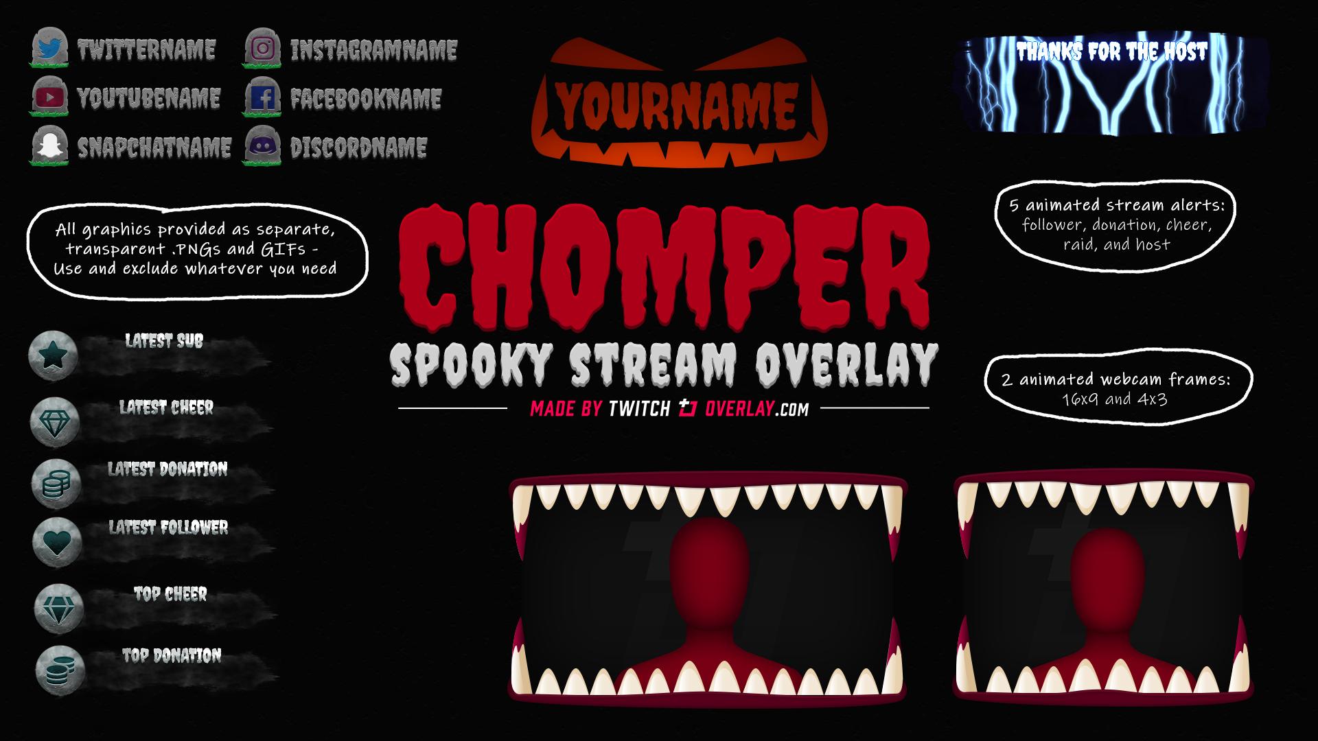halloween stream overlay - Twitch Overlay