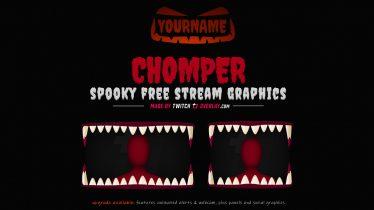free halloween stream overlay