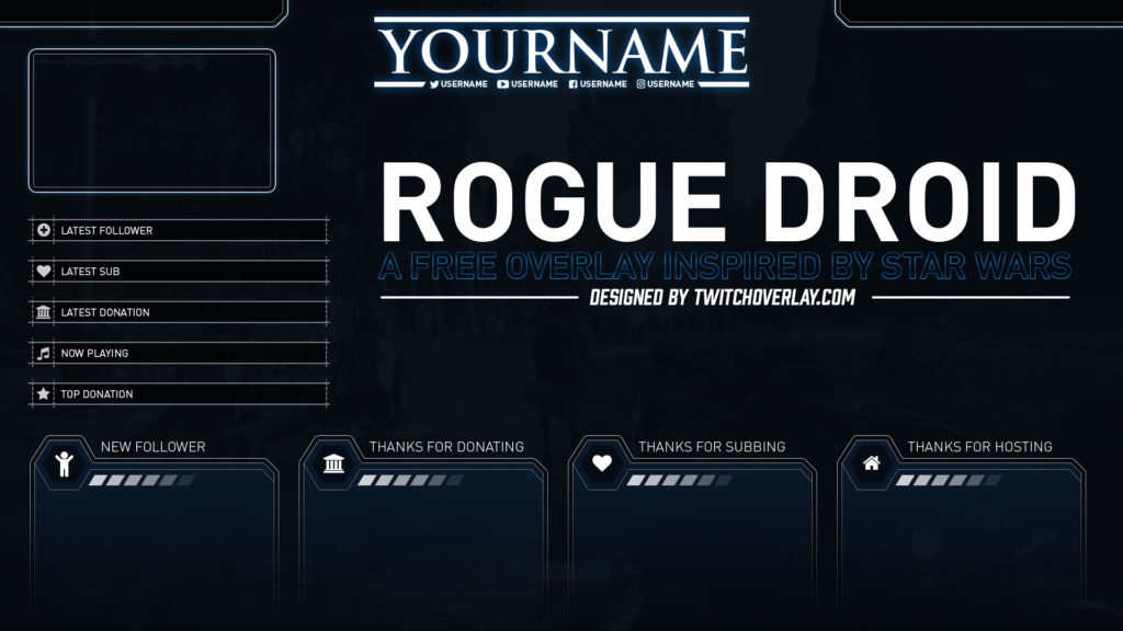 Rogue Droid – Free Star Wars Twitch Overlay