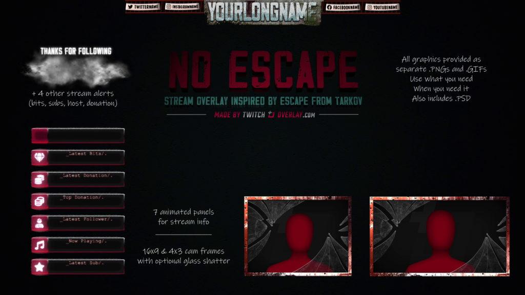 No Escape – Escape from Tarkov Twitch Overlay