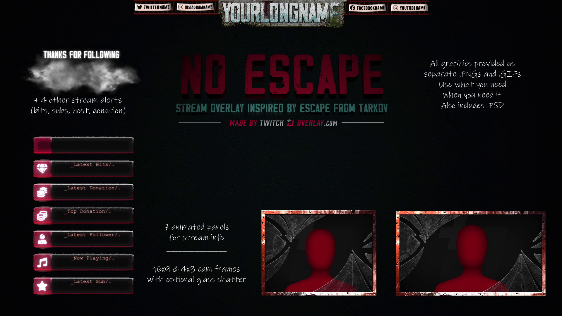 escape from tarkov twitch overlay - Twitch Overlay