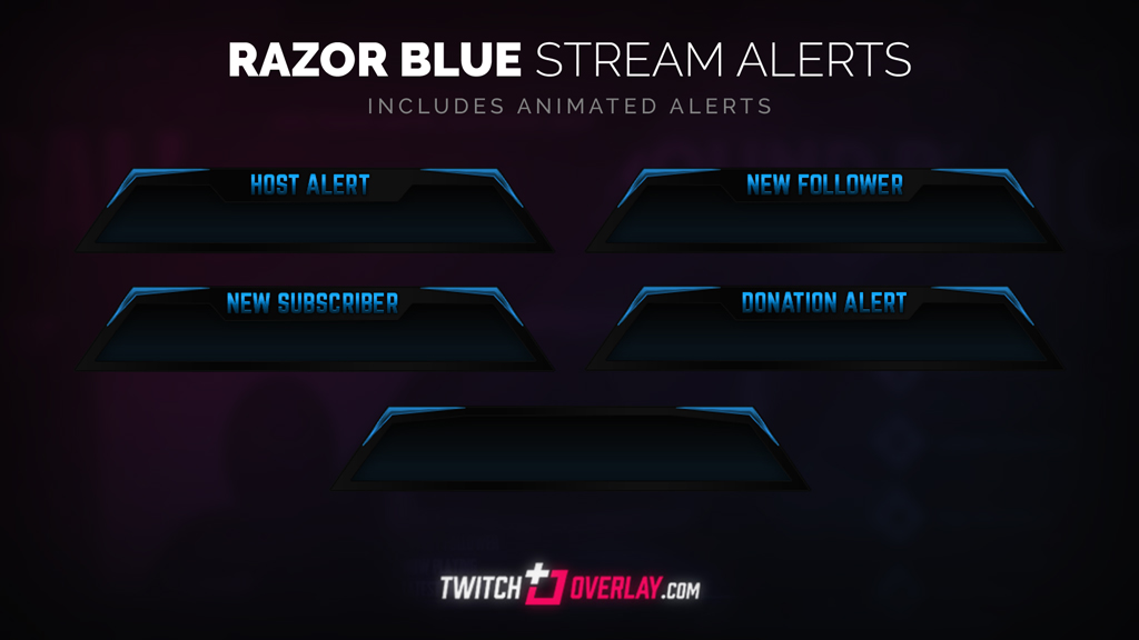 free blue twitch alerts - Twitch Overlay