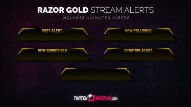 free gold twitch alerts