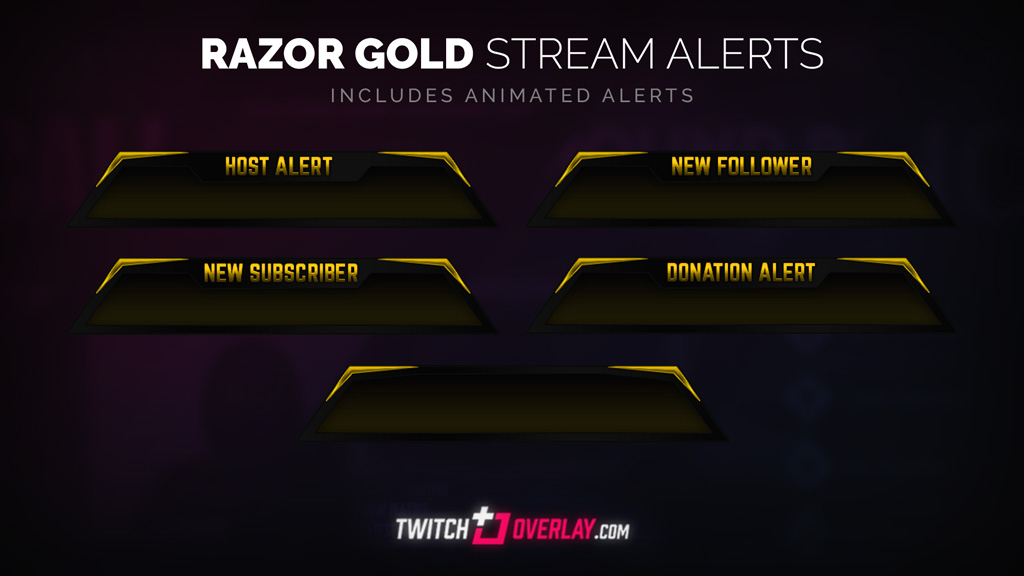 free gold twitch alerts - Twitch Overlay