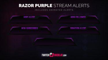 free purple twitch alerts