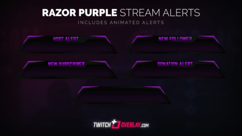 free purple twitch alerts