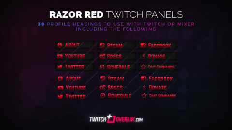 Red Twitch Panels