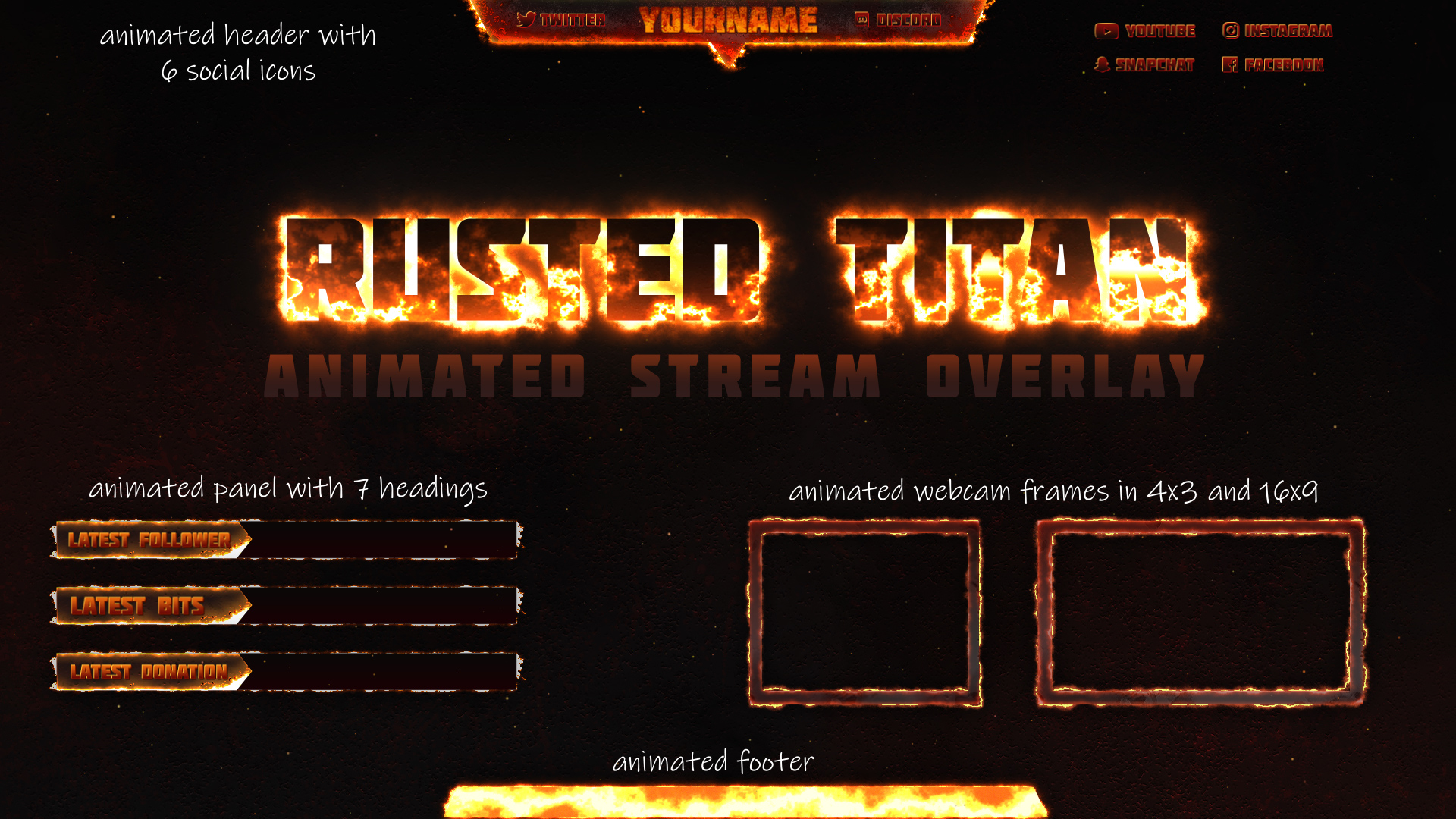 Fire Twitch Overlay - Twitch Overlay