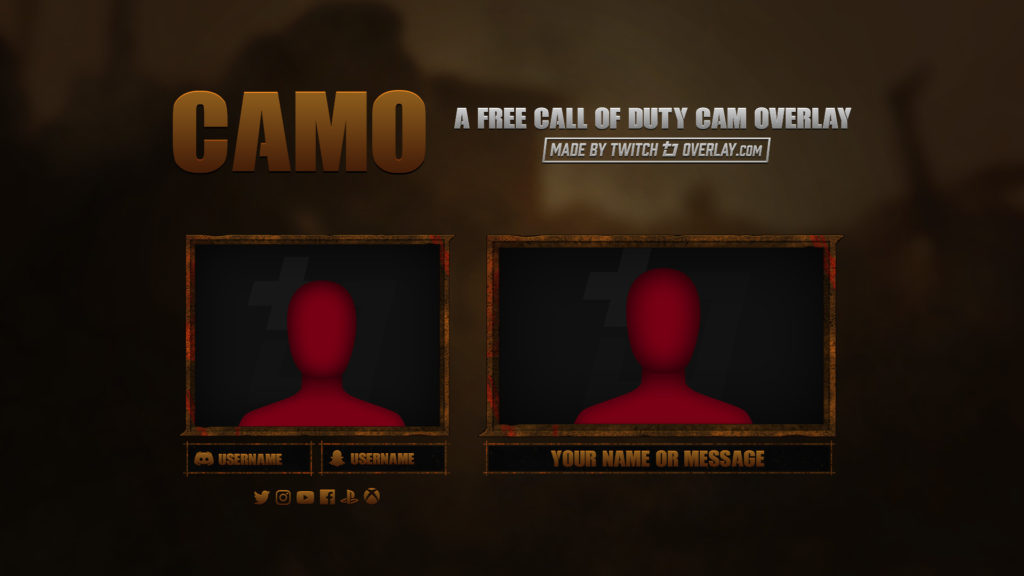 Camo – Free Call of Duty Twitch Overlay