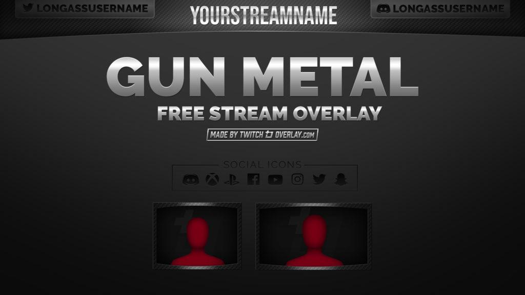 gun metal stream overlay - Twitch Overlay