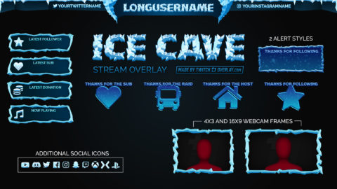 Ice Cave – Snow Twitch Overlay