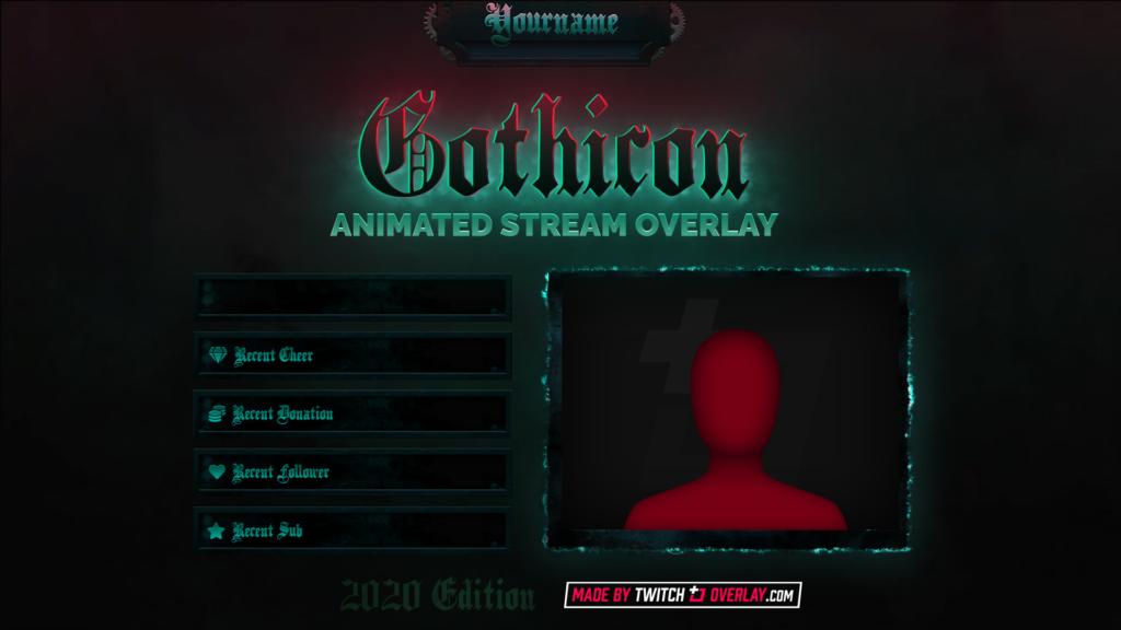 Gothicon – Gothic Twitch Overlay