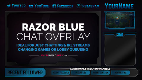 Razor Blue Chat Overlay