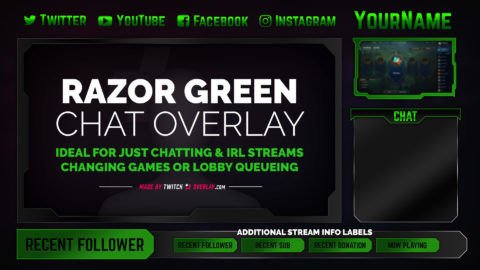 Razor Green Chat Overlay