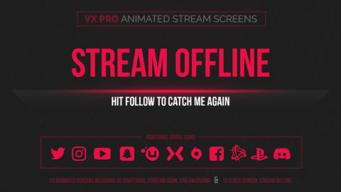 animated red stream screens