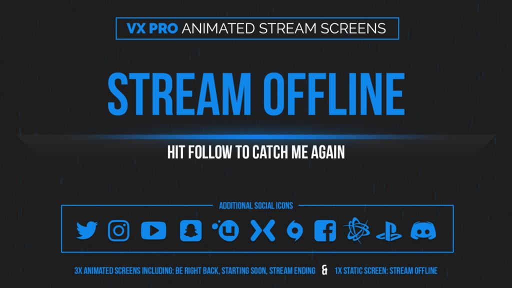 VX Pro Blue – Animated Blue Stream Screens