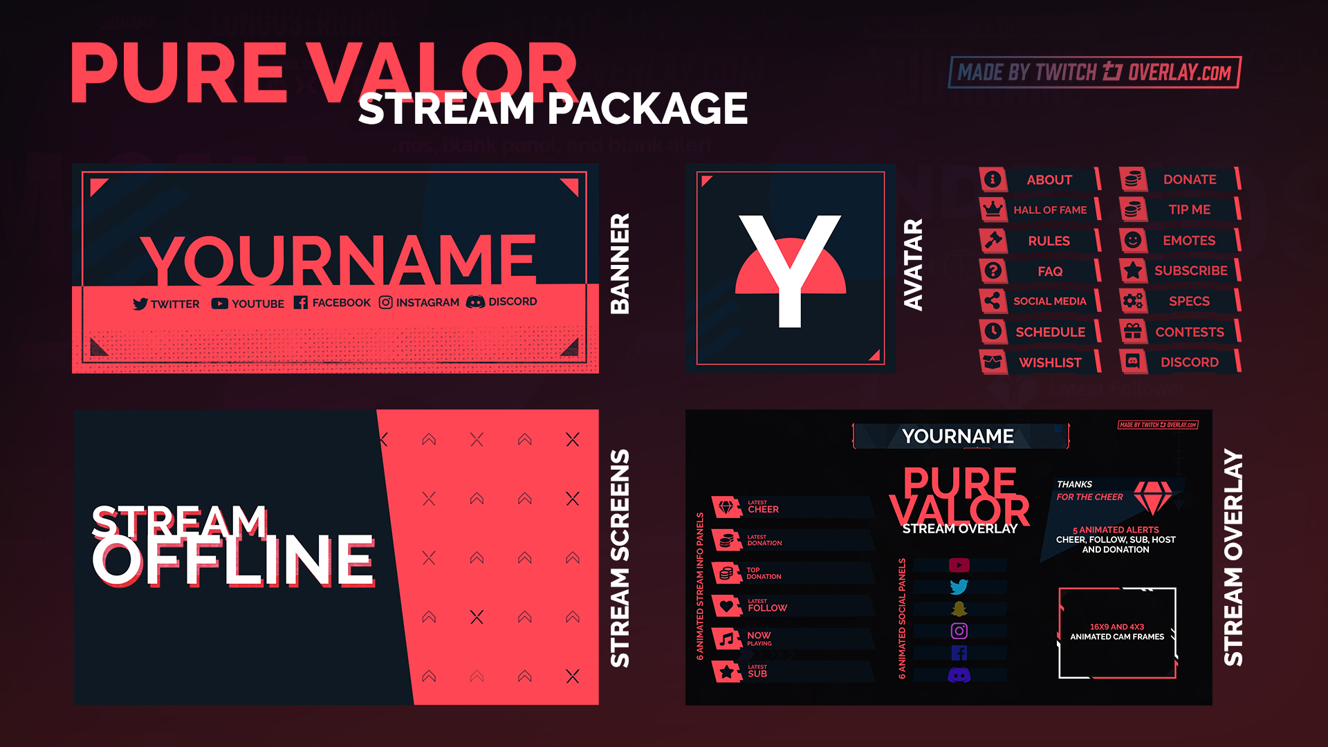 valorant stream package - Twitch Overlay