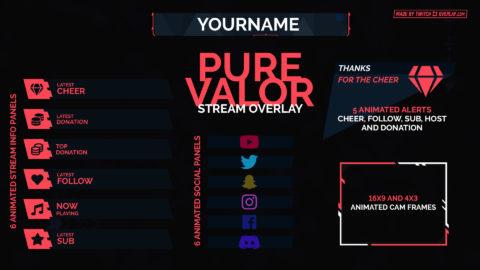Pure Valor – Valorant Twitch Overlay