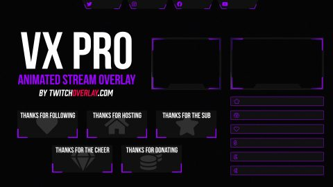 animated purple twitch overlay