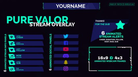 green valorant twitch overlay