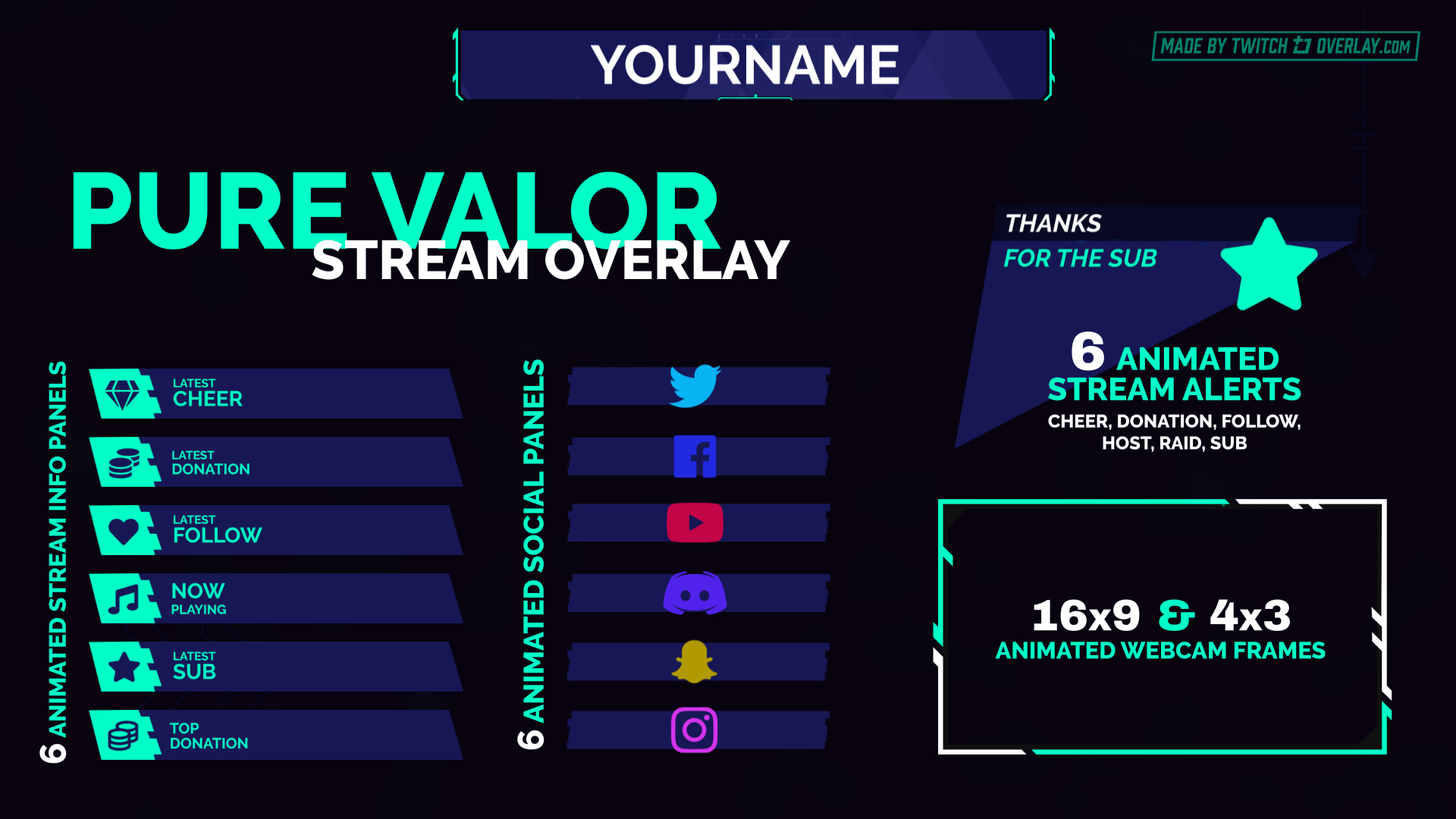 green valorant twitch overlay - Twitch Overlay