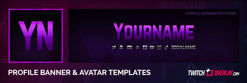 Purple Twitch Banner & Avatar