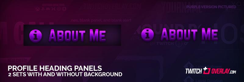 Purple Twitch Profile Panels