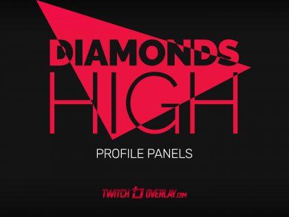 Diamonds High – Free Red Profile Graphics