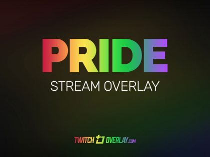 Pride – Free Gay Pride Twitch Overlay