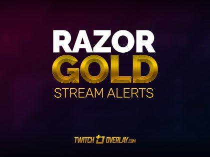 Razor Gold – Free Gold Twitch Alerts