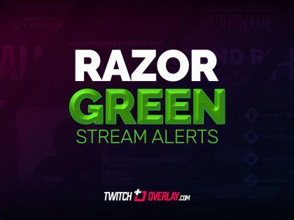 Razor Green Stream Alerts