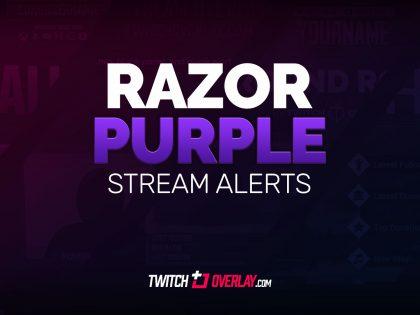 Razor Purple – Free Purple Twitch Alerts
