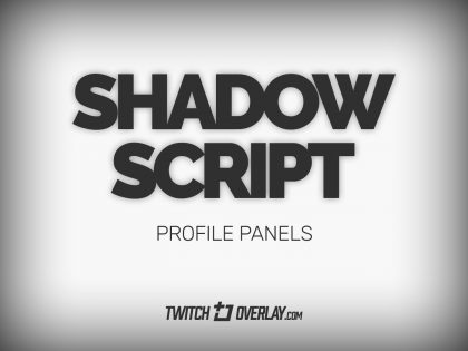 Shadow Script – White Profile Graphics