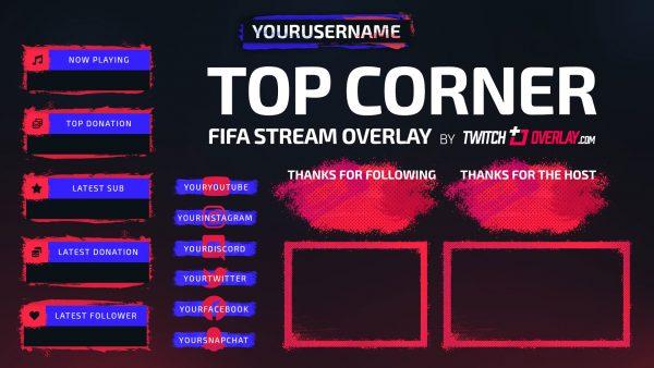 FIFA 22 Stream Overlay - Twitch Overlay