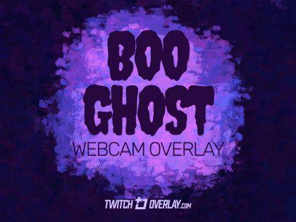 Boo Ghost – Free Halloween Webcam Overlay